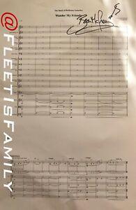 Battlestar Galactica A3 Sheet Music Signed by Bear McCreary (RARE!)