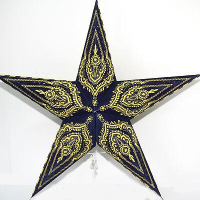 Stern Papierstern Weihnachtsstern Leuchtstern Lampe Papier  DUNKELBLAU Nr.2 /a
