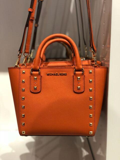 606c7170402879 Michael Kors The Sandrine Leather Stud Small Crossbody Bag in ...