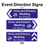 Personalised-Wedding-ring-Direction-Sign-Road-Sign-names-event-amp-date-Correx thumbnail 3