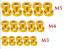 10 Stück Packung Unterlegscheiben für Senkkopf Schrauben M3//M4//M5 mijn