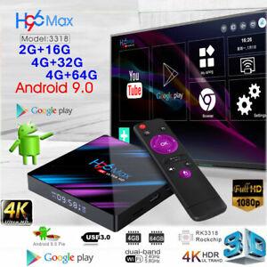 2019 H96 MAX Android 9.0 4K HD Smart TV BOX 4+64GB Quad-Core WIFI Media Streamer