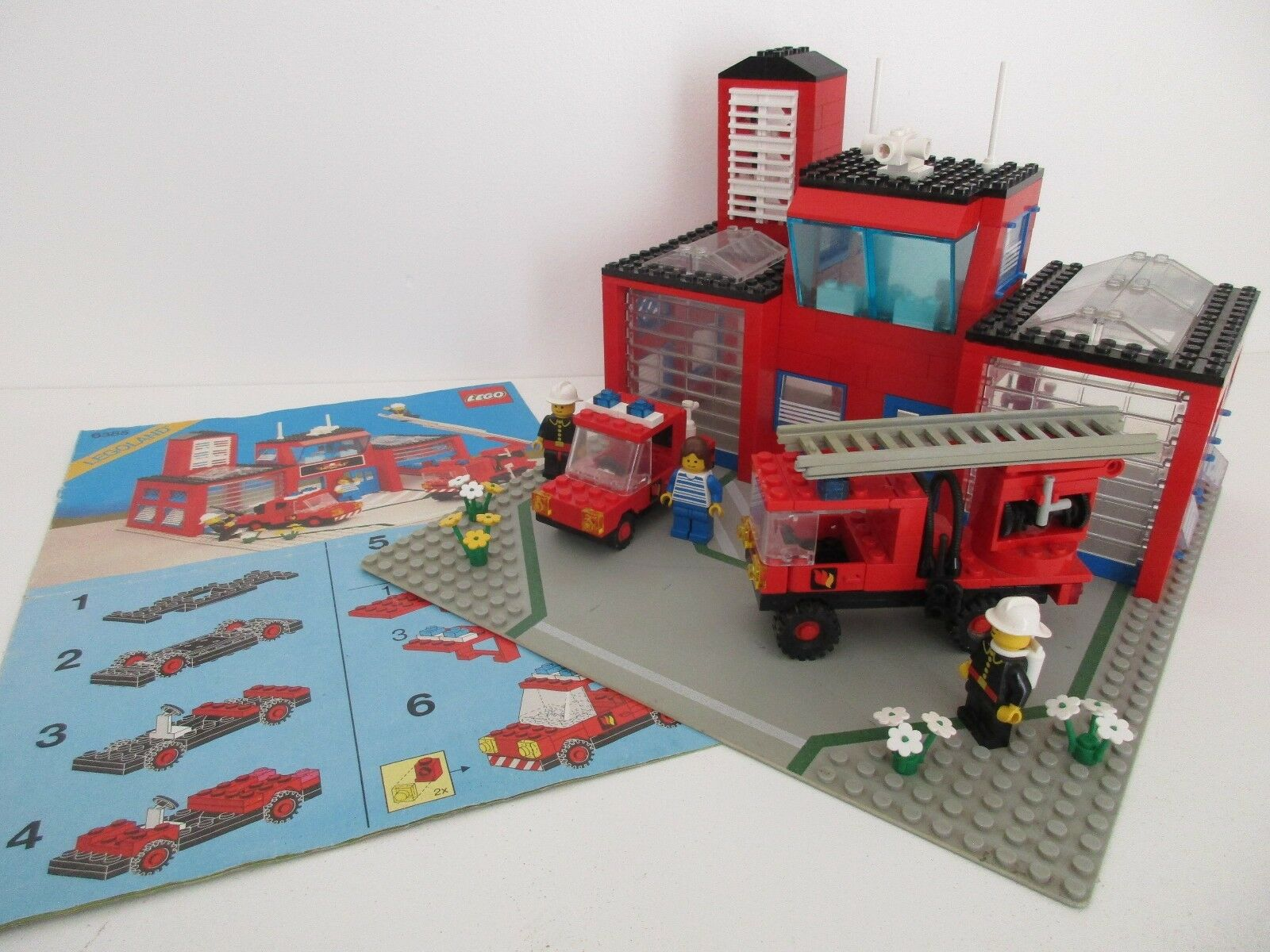LEGO LEGOLAND 6385 - FIRE HOUSE Caserne Pompiers - Complet avec Instructions