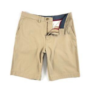 timeless design e563a 8a0c5 Dettagli su Tommy HILFIGER pantaloni corti chino Uomo Khaki Solid  Spazzolato Twill 10