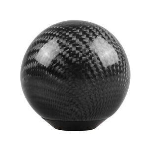Levier-de-Vitesse-Pommeau-Carbone-Fibre-Rond-Balle-Forme-Decoration-Noir-sans