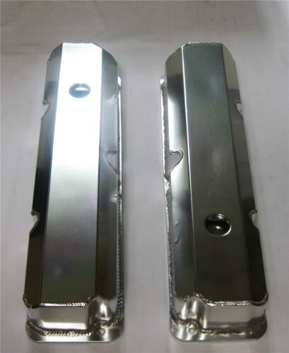 New Ford FE Tall Fabricated Aluminum Valve Covers With Hole 352 390 427 428 BBF