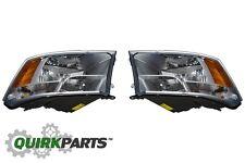 2009-2012 DODGE RAM 1500 LEFT & RIGHT FRONT DRIVER SIDE HEADLIGHT LAMP MOPAR OEM