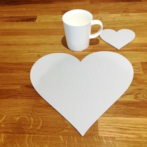 """27 cm 10.5/"""" 4 6 ou 8 En forme de cœur Gris Clair Mat Acrylique Sets de Table /& Sous-verres"""