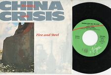 CHINA CRISIS disco 45 MADE in ITALY Working with fire and steel STAMPA ITALIANA
