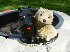 Black & White Scotch Whiskey Advertising Figurine Dogs