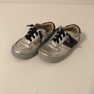 Toddler-Boys-Old-soles-Sz-7-Sz-23-Silver-Black-Runner-Sneaker-Tennis-Shoe-EUC