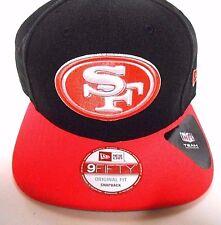 New ERA 9Fifty San Francisco SF 49ers Football Black Pink Logo Cap Hat Snapback