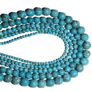 4-6-8-10mm-Wholesale-Natural-Turquoise-Gemstone-Spacer-Loose-Beads-Stone-Jewelry
