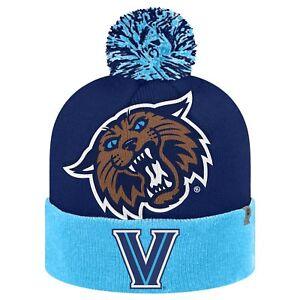 VILLANOVA-WILDCATS-NCAA-2-TONE-MASCOT-KNIT-BEANIE-POM-WINTER-CAP-HAT-NWT