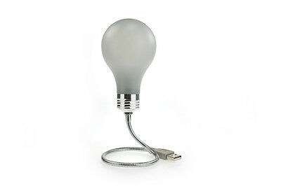 USB Bright Idea Lightbulb Gadget - Novelty Desktop Computer Light for PC and Mac