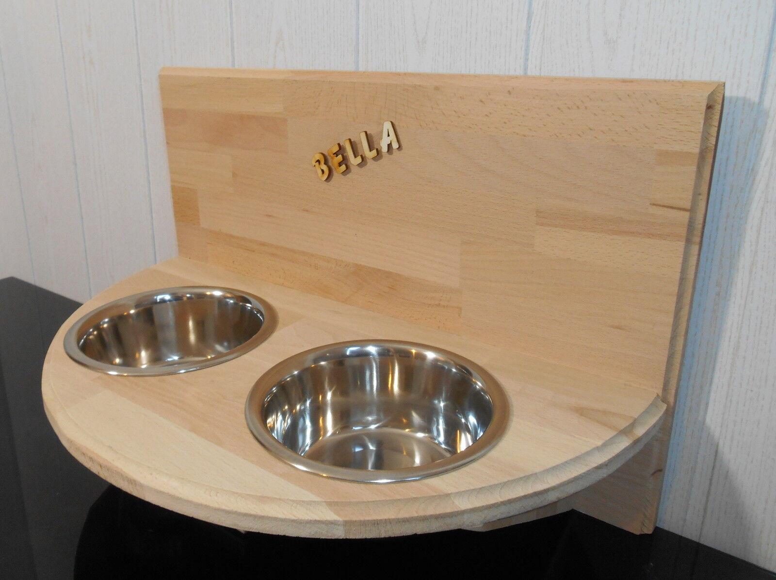 Wandfutterbar, Hundenapf halbrund, 2 x 750  , Futterstation, Näpfe (204)