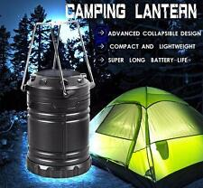 LED Portable USB Solar Rechargeable Lantern Outdoor Camping Hiking Lamp Light US