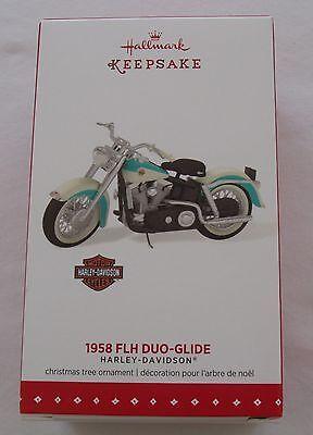 Hallmark 2015 Harley Davidson 1958 FLH Duo-Glide Motorcycle Christmas Ornament