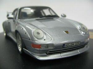 WOW-EXTREMELY-RARE-Porsche-993-911-GT2-Evo1-450HP-1995-Silver-1-43-Vitesse-Spark