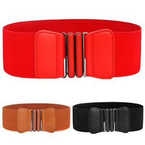 Female-Ladies-Buckle-Wide-Stretch-Waistband-Elastic-Corset-Waist-Belt-New-J-rs