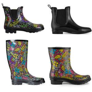 SheSole Womens Gumboots Mid Calf Rubber Wellington Rain Boots Wellies AU Size 11