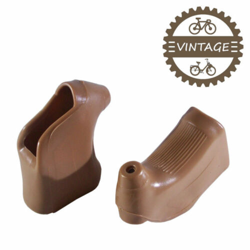 SET OF DOUBLE BRAKE LEVER BROWN HOODS CYCLE VINTAGE 22MM FIXIE SINGLESPEED