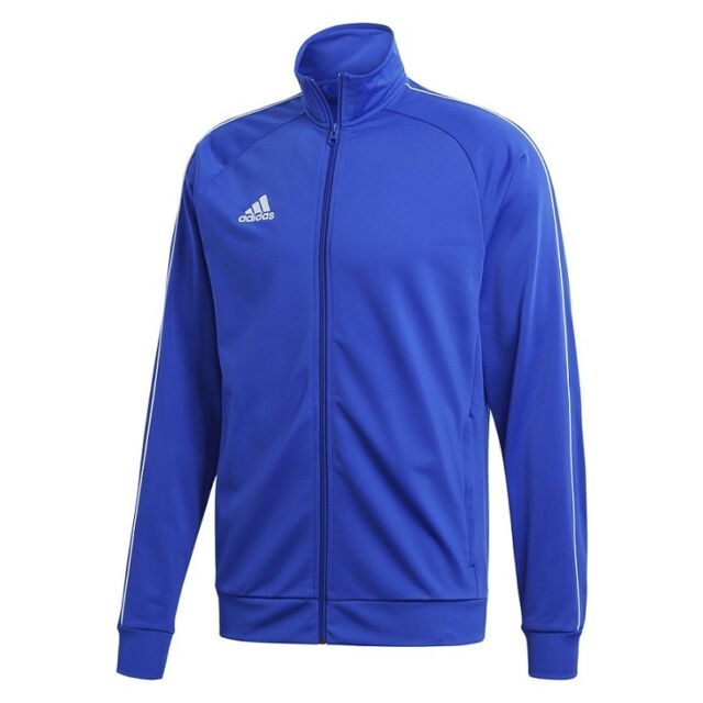 a7bde53899eb adidas Core 18 Polyester Jacket Kids Blue White 140 for sale online ...