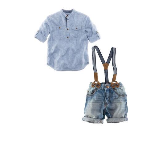 braces jeans outfits kid boys Clothing 2PCS Kids baby boys Short sleeve shirt