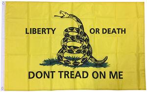 3x5/' TEA PARTY Dont Tread On Me Liberty or Death Flag