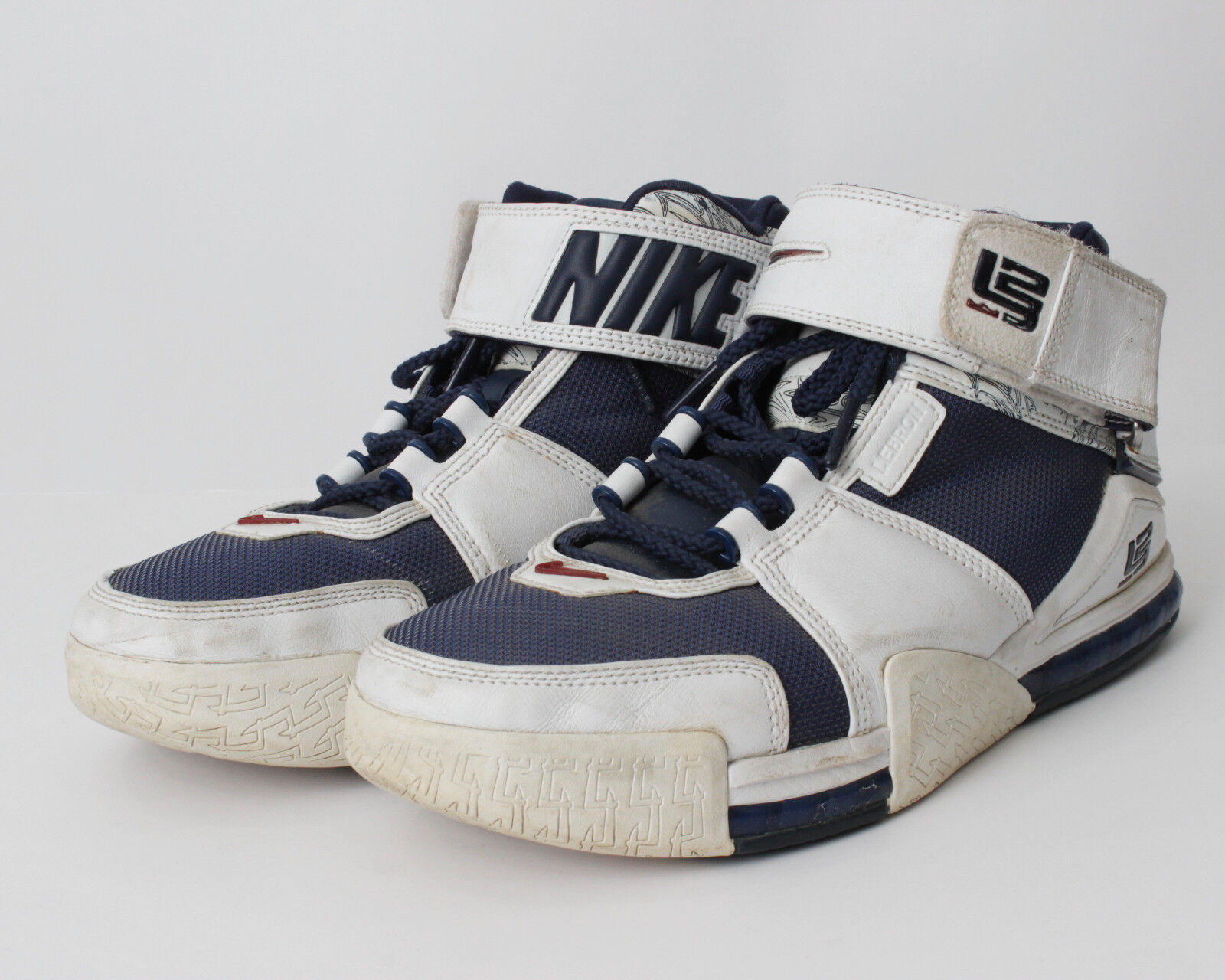 Nike zoom lebron 2 dimensioni 2004 della marina bianca 309378 441 309378441 di seconda mano