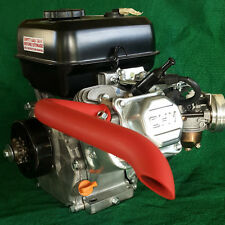 Mini Bike custom Exhaust Header Pipe for Predator 212cc Flat RED-ORANGE CERAMIC.
