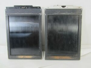 2-Antique-Agfa-5-034-x-7-034-Large-Format-Print-Frames