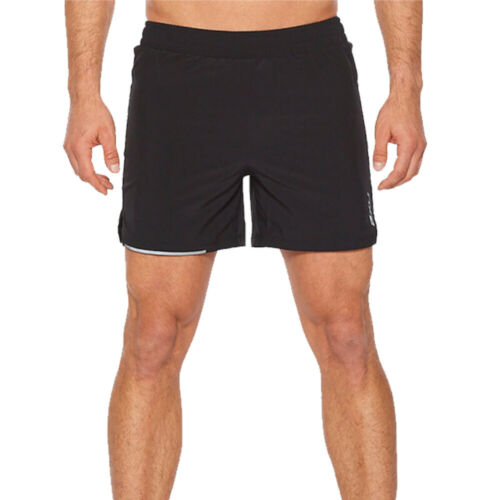 2XU Mens X Vent 5 Inch Shorts Pants Trousers Bottoms Black Sports Running