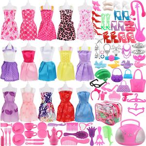Accesorios de ropa de muñeca para muñecas barbie juguetes para niñas 106Pcs