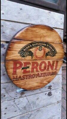 Smirnoff vodka  round plaque wooden sign mancave shed bar pub 14inch