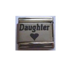 9mm-Italian-Charm-L96-Love-Heart-Daughter-Fits-Classic-Size-Bracelet