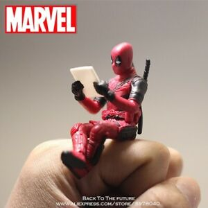 Disney Marvel X-Men Deadpool 2 Action Figure Sitting Posture Model Anime Mini...