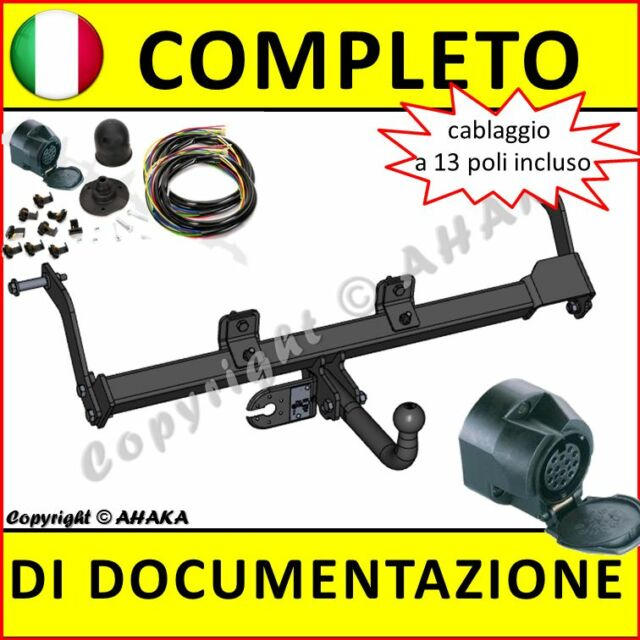 Gancio di traino fisso Renault Kangoo 1997-2007 +kit elettrico 13-poli Rimorchio