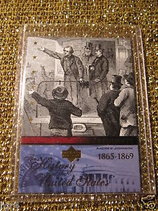 US-President-Andrew-Johnson-1865-US-Hisotry-Upper-Deck-Trading-Card