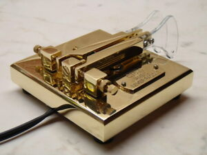 CT-599-Quad-Ball-Bearing-Iambic-Brass-Lever-Paddle-by-UR5CDX-New-amp-Boxed