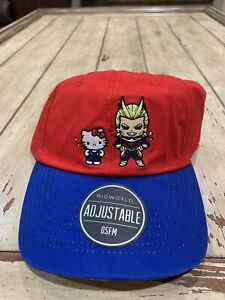 My-Hero-Academia-X-Hello-Kitty-ALL-MIGHT-Embroidered-Adjustable-Cap-NWT