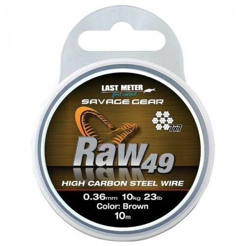 Savage Gear Raw 49 Haut Carbone Fil Marron dix mètres Crazy Prix