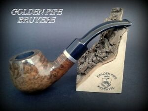HAND-MADE-WOODEN-TOBACCO-SMOKING-PIPE-BRUYERE-no-74-Heban-Briar-BOX
