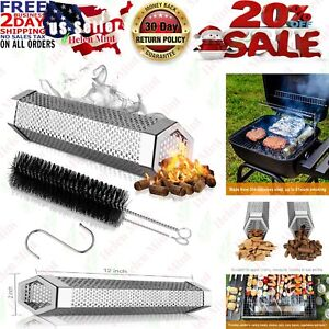Pellet-Smoker-Tube-BBQ-Cold-Hot-Gas-Grill-12-Inch-Stainless-Steel-Wood-Smoking