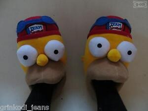 034-Homer-frisst-Fuss-034-Team-Simpsons-Hausschuhe-Gr-41-NEU-gelb-warm-amp-witzig