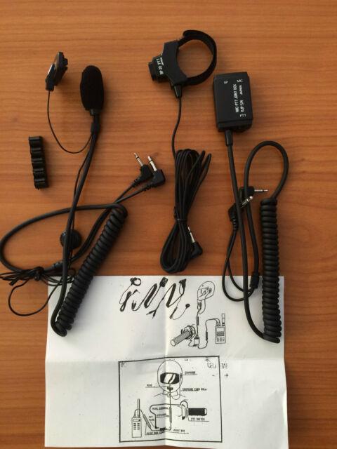 Microcasque Découte Moto Casque Pour Yaesu Ft23 Icom Ic 02e Ecc