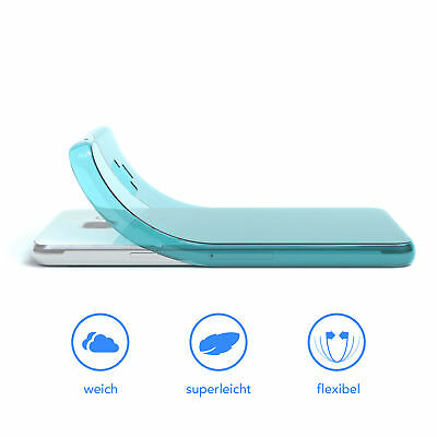 Ultra Slim Cover für Galaxy A3 (2016) Case Silikon Hülle Transparent Hellblau