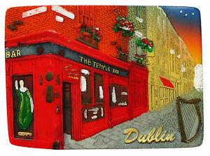 Fridge magnet - Dublin,irish souvenir,irela<wbr/>nd 3D design gift TEMPLE BAR/NIGHT