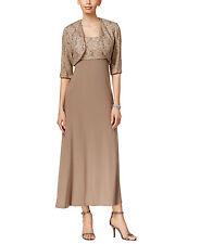 NWT-R&M Richards ~Size 10~ Glittered Lace Mother of Bride Dress & Bolero Jacket