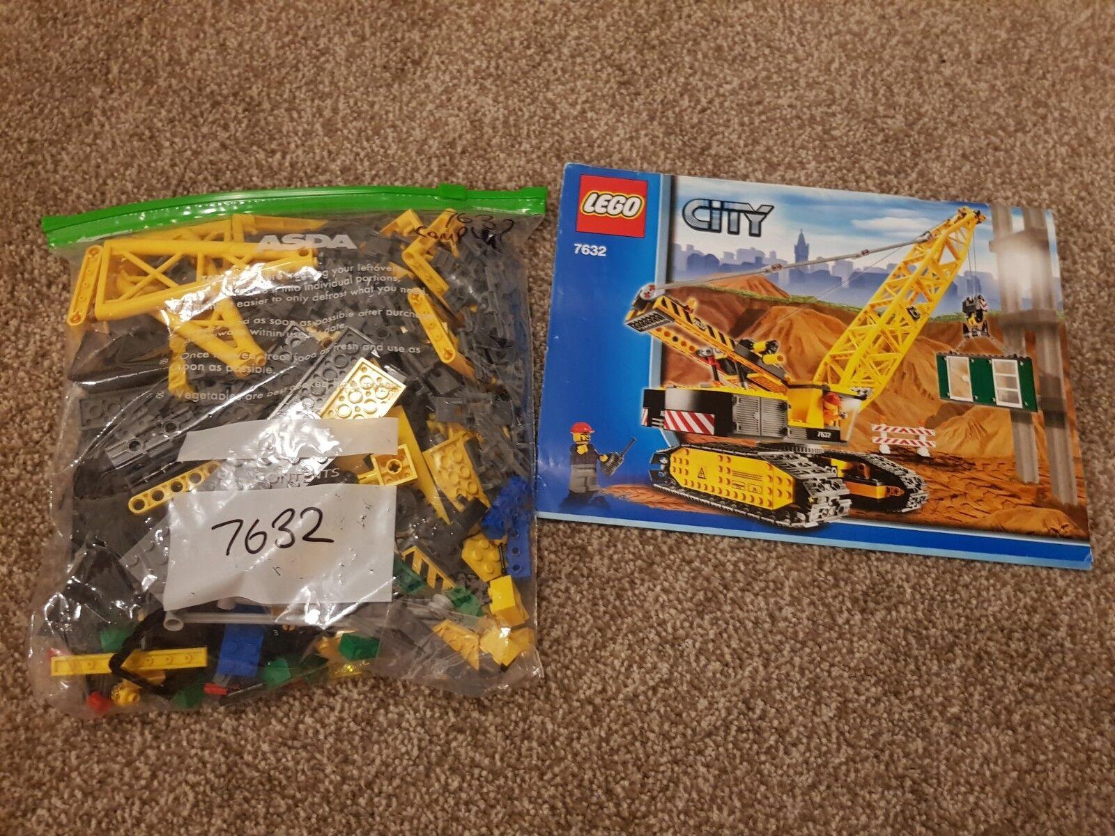 LEGO City 7632 Crawler Crawler Crawler Crane Complete Town Construction Worker fbbc4f